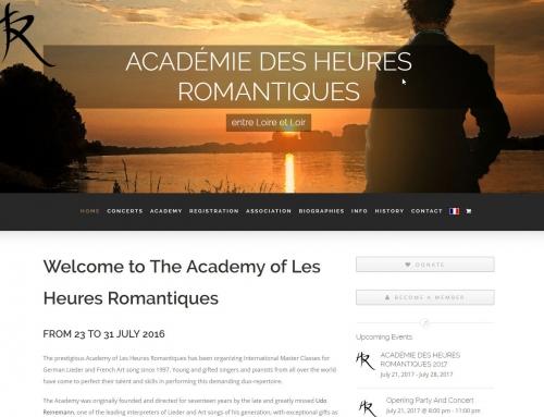 Relaunch ACADÉMIE DES HEURES ROMANTIQUES